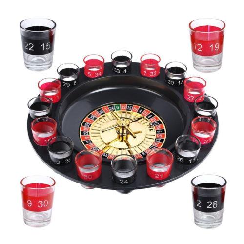 Roulette mit Schnapsgläsern